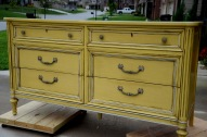 Yellow Painted Dresser