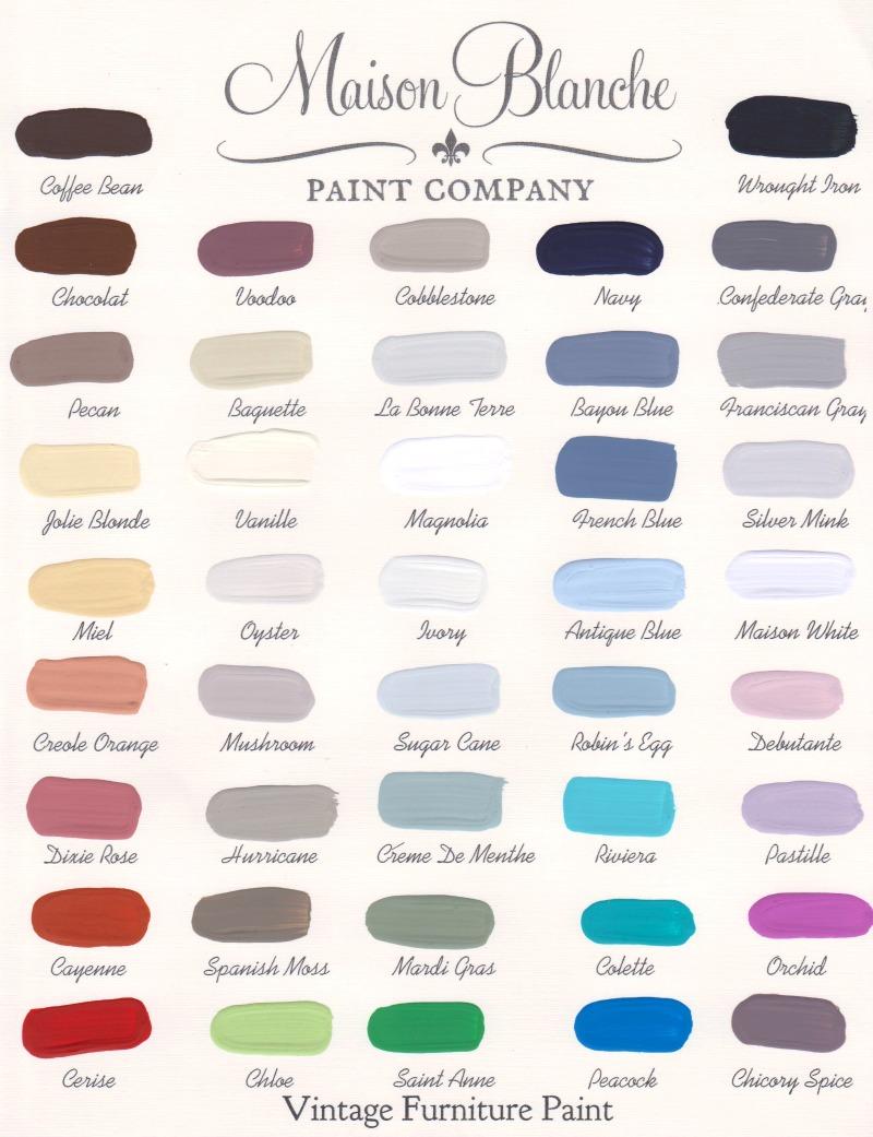 Maison blanche color chart the painted perch maison blanche color chart maisonblanchecolorchart2014july001 nvjuhfo Choice Image